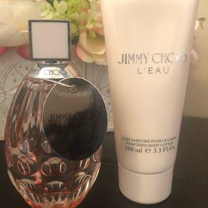 Jimmy Choo L'eau EDP & Body Lotion both 3.3fl Oz